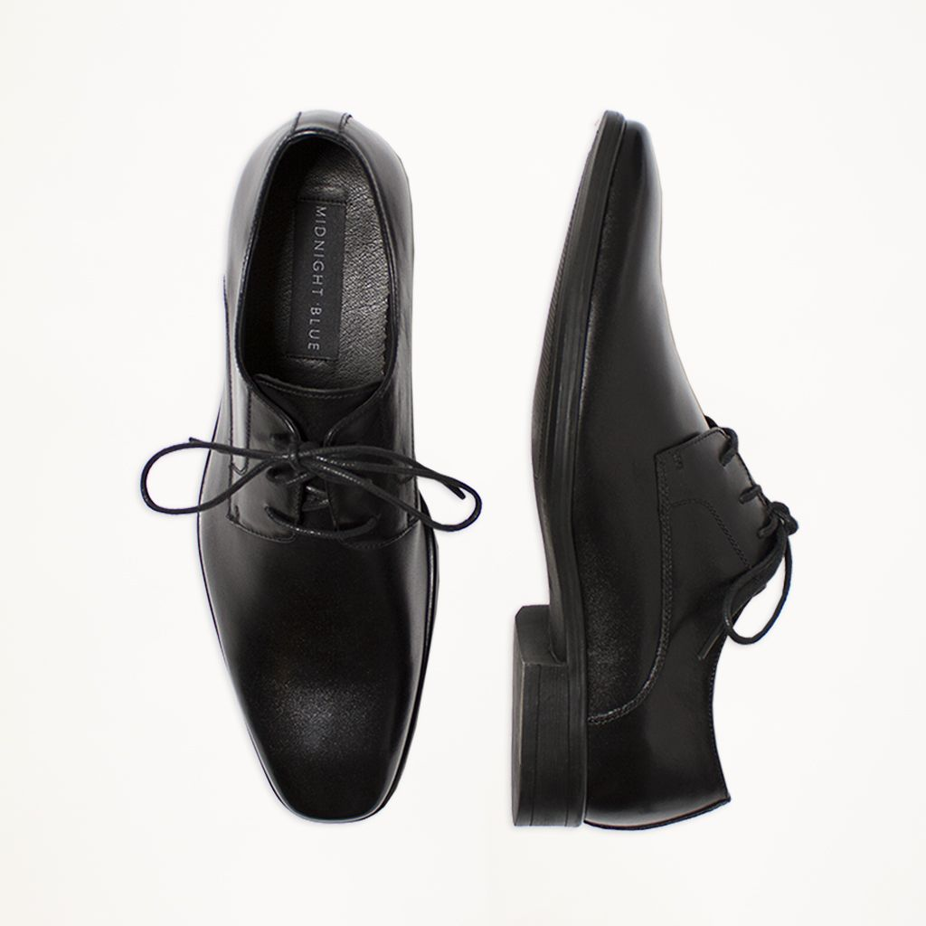 Black Matte Leather Dress Shoe