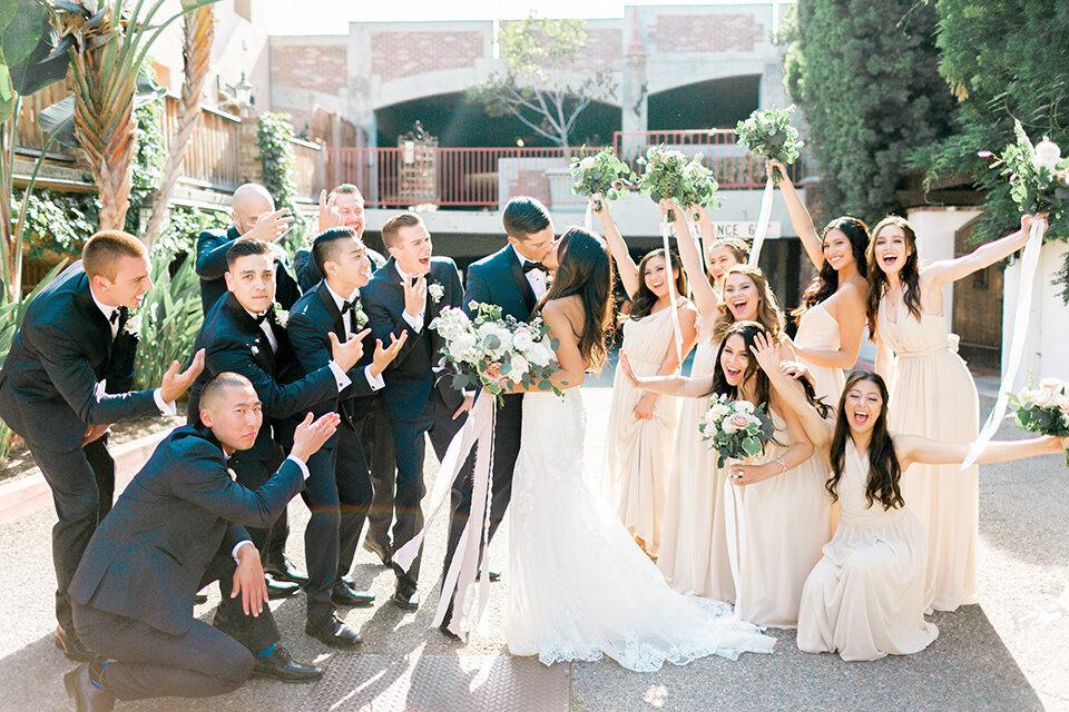Neutral Colored Oc Garden Wedding Friar Tux
